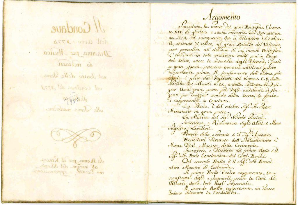 Il Conclave Dramma Satirico pag2 - 1776